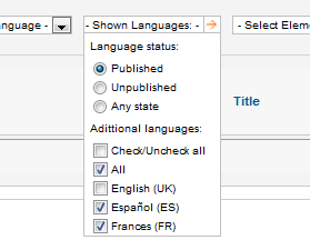 KM FasTrans translations Dashboard.Shown Languages List